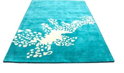 morgenland Wollteppich »Gabbeh Teppich handgetuftet türkis«, rechteckig, 15 mm Höhe,... kaufen
