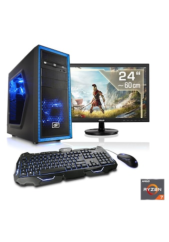 "CSL Gaming PC Set | Ryzen 7 2700X | RTX 2060 | 16GB DDR4 | 24"" TFT »Sprint T8799 Windows 10 Home« kaufen"
