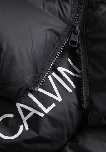 Calvin Klein Jeans Daunenmantel »MW DOWN SHINY LONG PUFFER«, mit abnehmbarer Kapuze &... kaufen