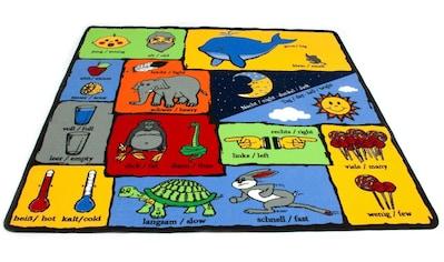 Primaflor-Ideen in Textil Kinderteppich »GEGENSÄTZE«, rechteckig, 5 mm Höhe, Spielteppich, Gegensätze lernen kaufen