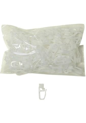 indeko Klick-Gleiter, (Set, 100 St.), mit Faltenleghaken kaufen