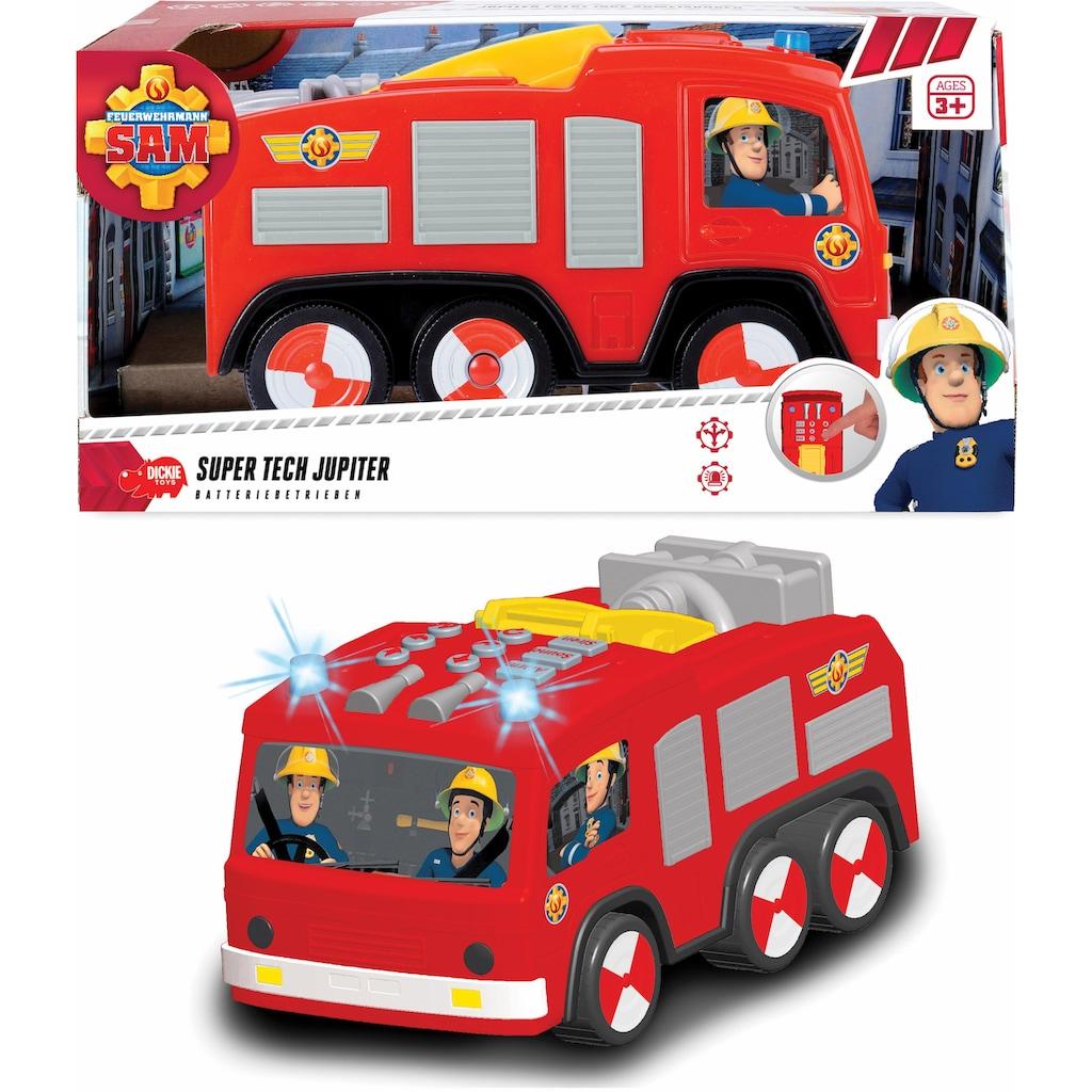 Dickie Toys Spielzeug-Feuerwehr »Feuerwehrmann Sam Super Tech Jupiter«, mit Licht und Sound