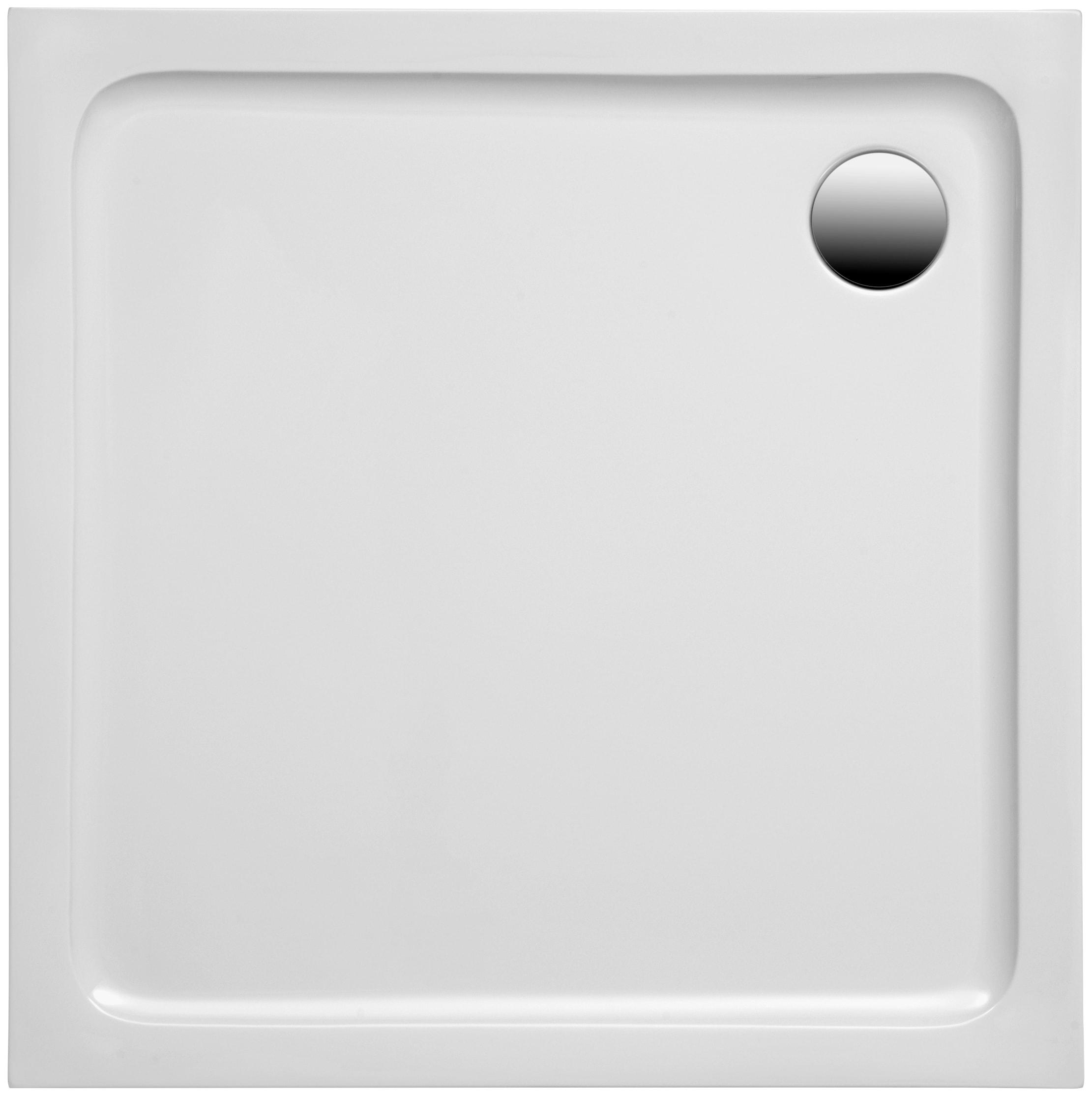 OTTOFOND Duschwanne Set Quadratische Duschwanne, 800x800/30 mm weiß Duschwannen Duschen Bad Sanitär