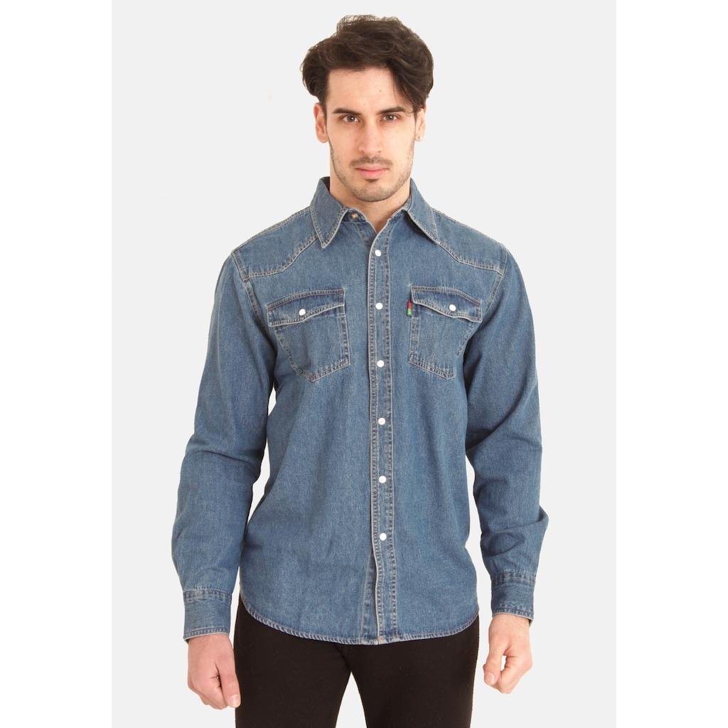 Duke Clothing Jeanshemd »Herren Western Denim Hemd«