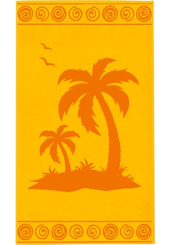 Delindo Lifestyle Strandtuch »Tropical Palme«, (1 St.), mit jacquard-gewebtem Motiv kaufen