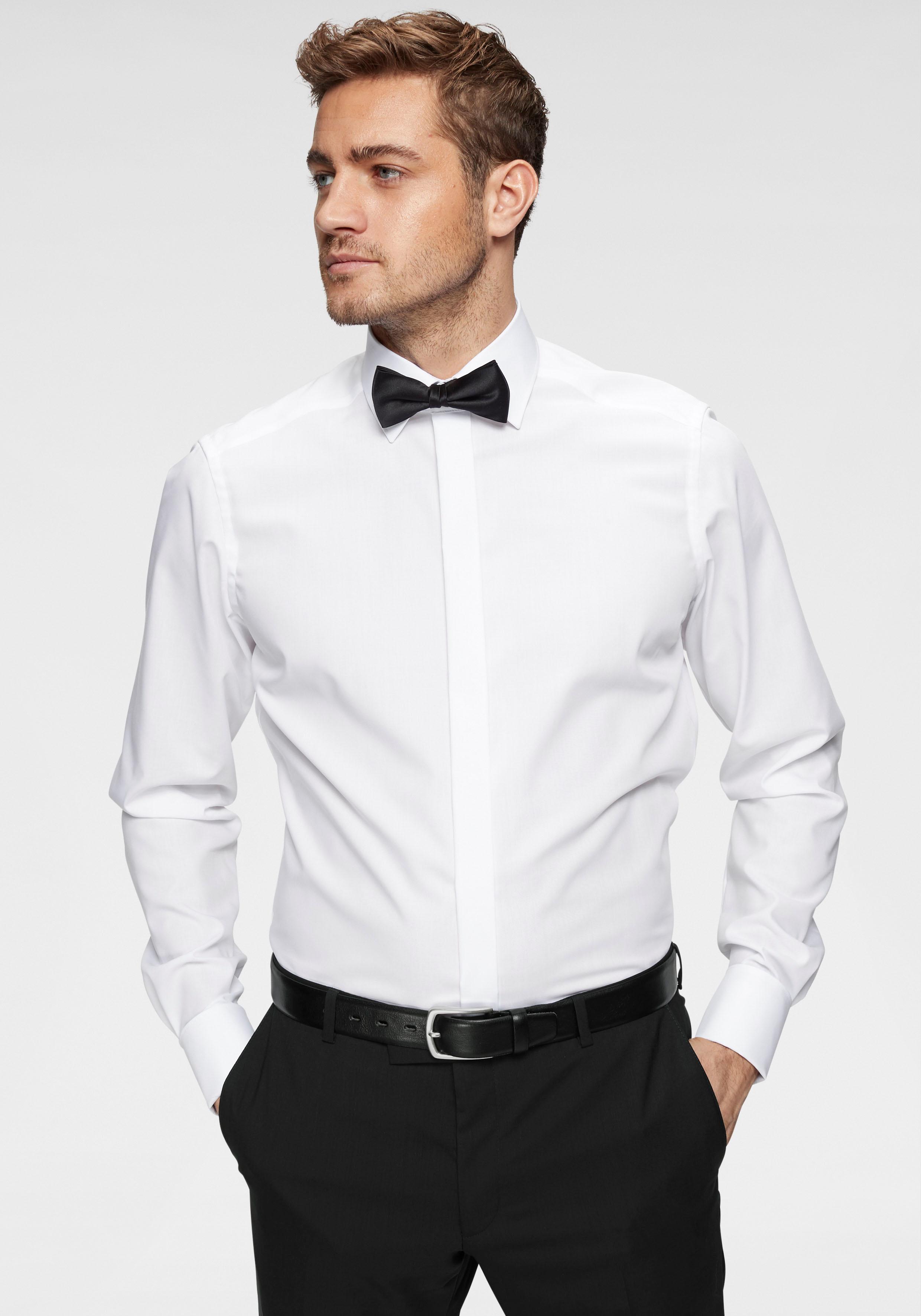 OLYMP Smokinghemd »Luxor modern fit«   Bekleidung > Anzüge & Smokings > Smokings   Weiß   OLYMP