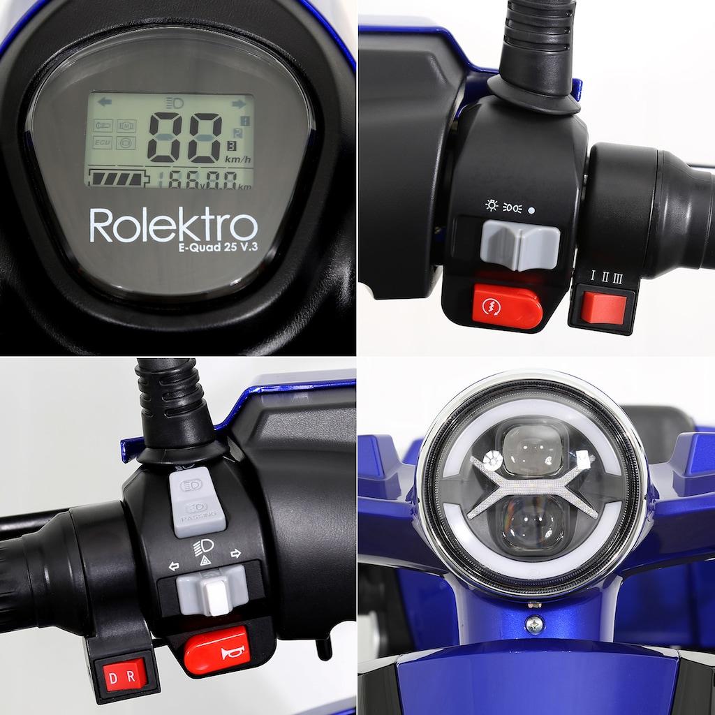 Rolektro Elektromobil »Rolektro E-Quad 25 V.3, Lithium Akku«, 25 km/h, (mit Topcase)