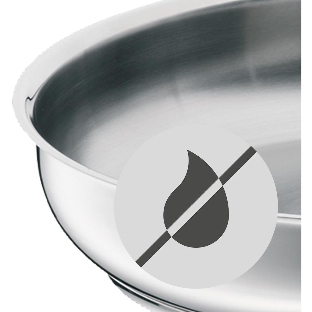 WMF Bratpfanne »Profi«, Cromargan® Edelstahl Rostfrei 18/10, (1 tlg.), unbeschichtet, ideal für scharfes Anbraten