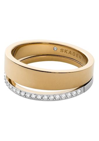Skagen Fingerring »ELIN, SKJ1451998«, mit Glassteinen kaufen
