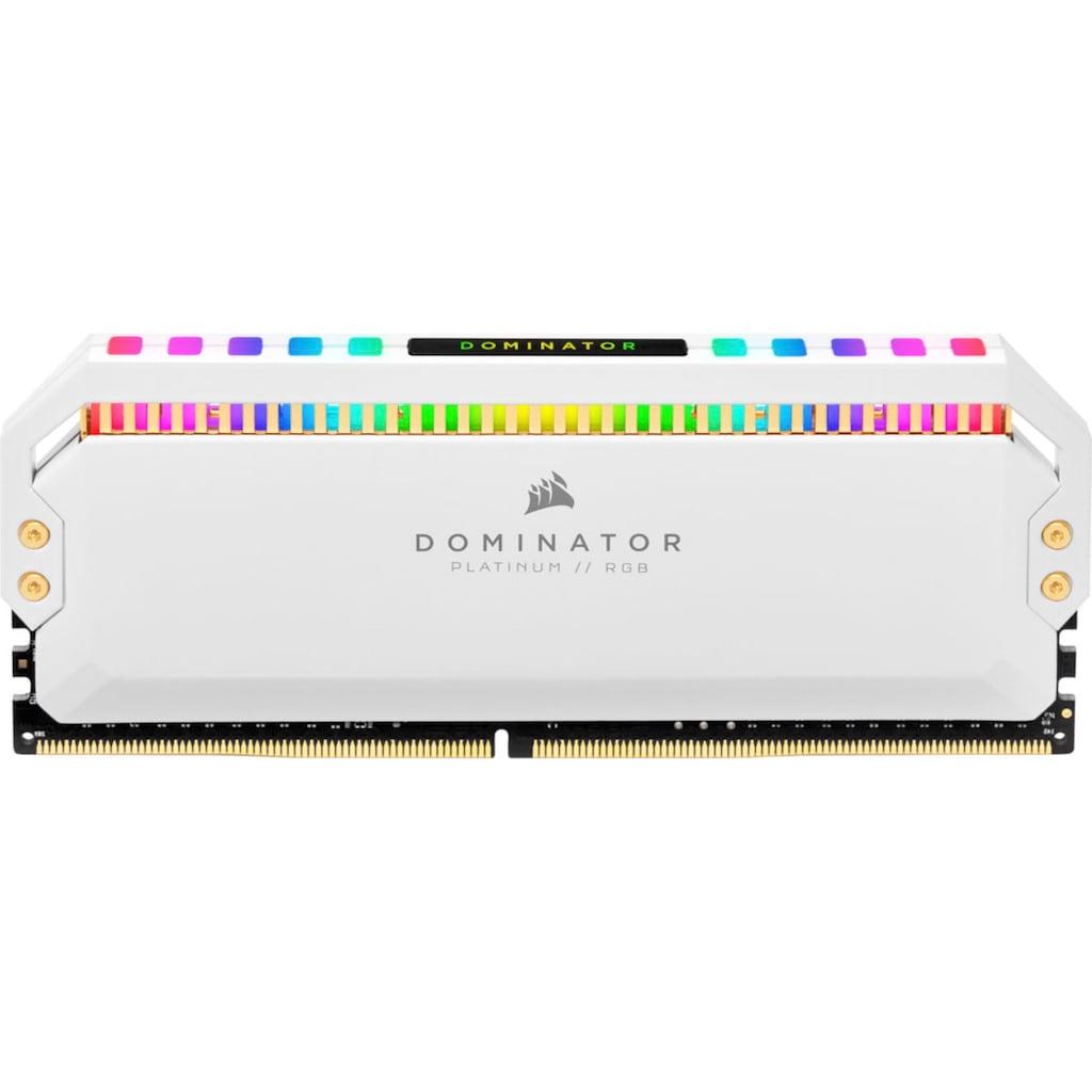 Corsair Arbeitsspeicher »Dominator Platinum RGB DDR4 3600MHz 32GB UDIMM White (4x8GB)«