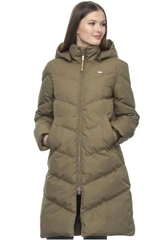 Ragwear Steppjacke »REBELKA«, langer Damen Winter Steppmantel mit 2-Wege-Zipper, water repellant kaufen