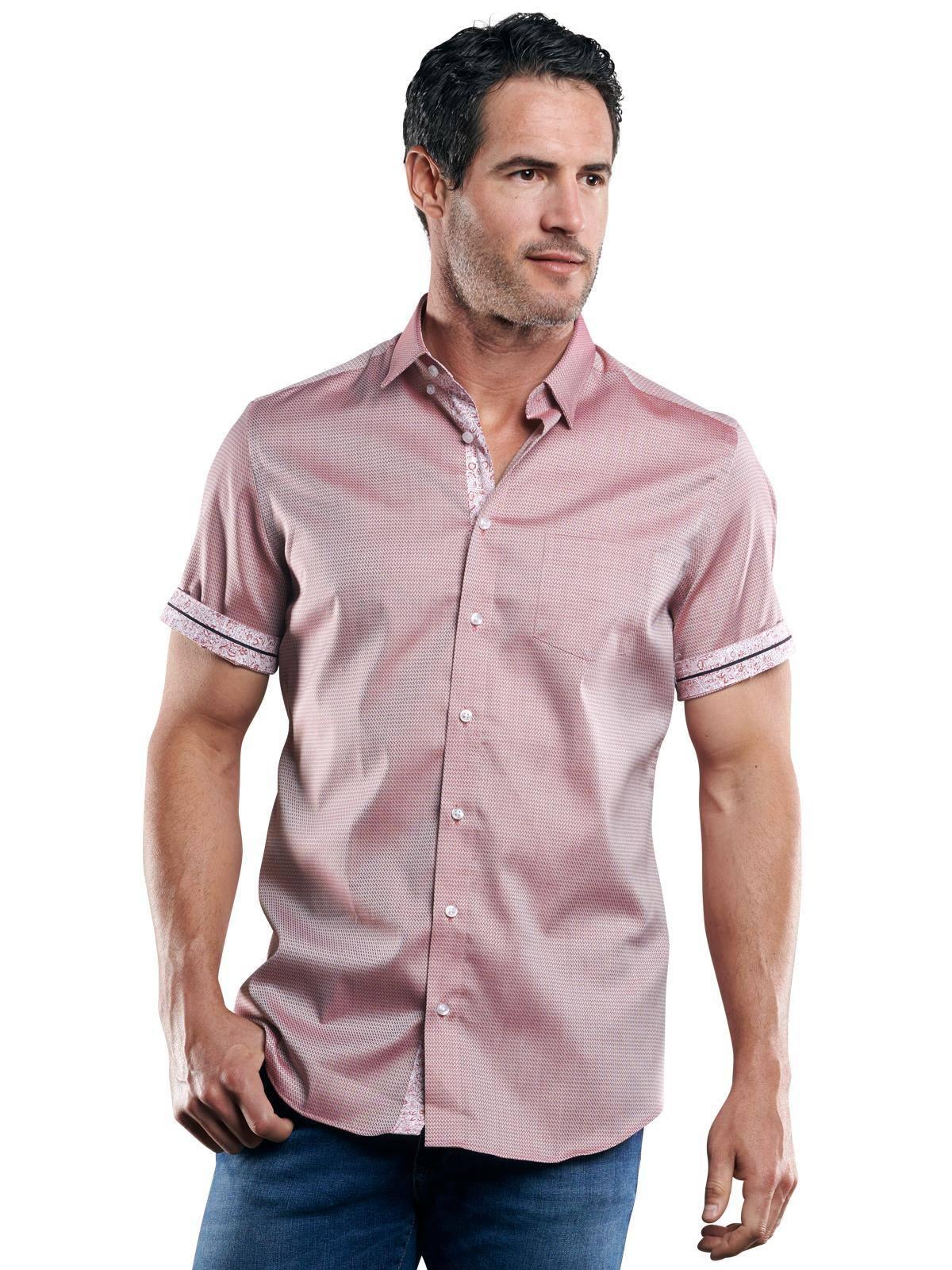 Engbers 100% bügelfreies Hemd, rot, Herren