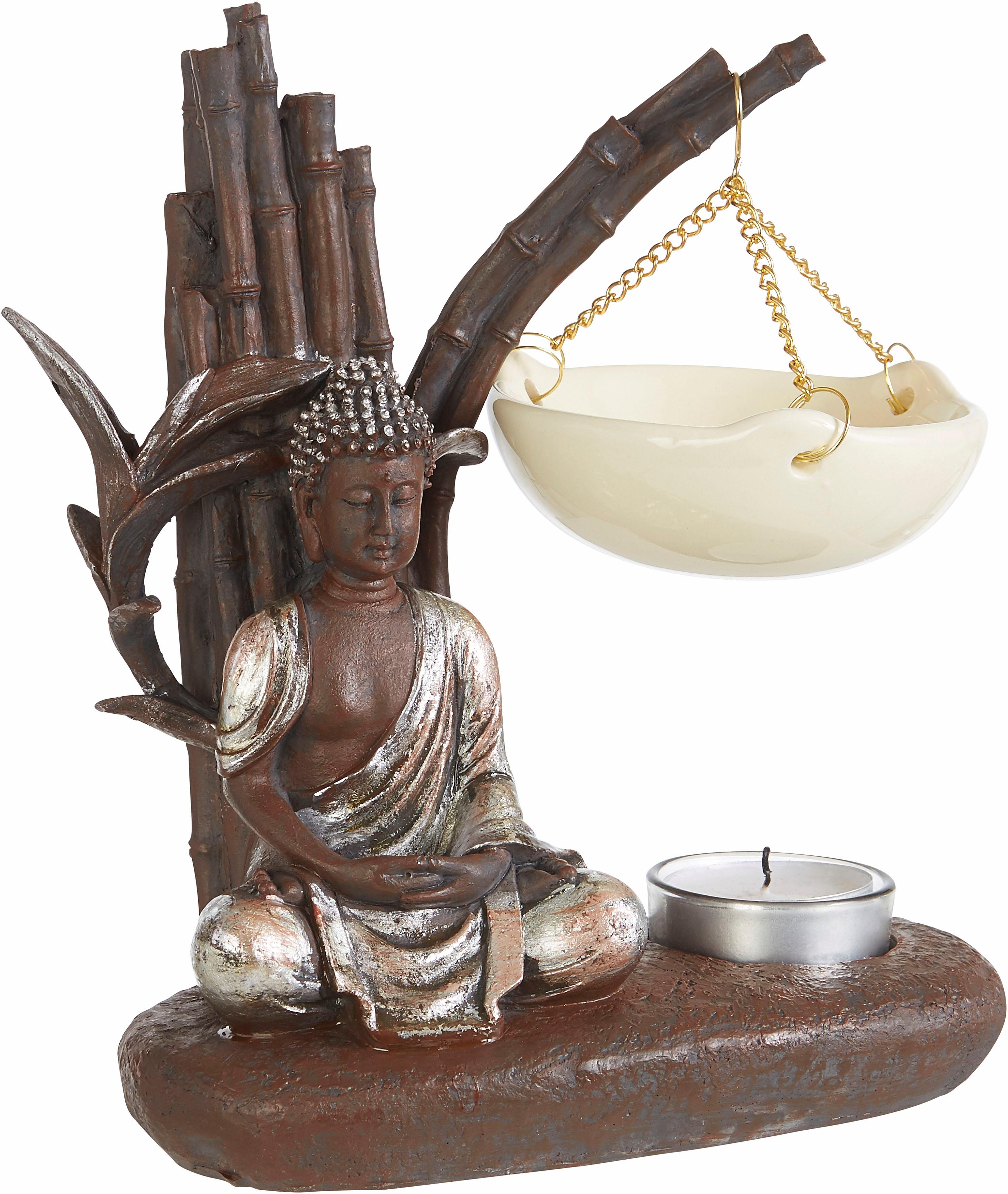 pajoma Duftlampe Buddha braun Kerzenhalter Kerzen Laternen Wohnaccessoires