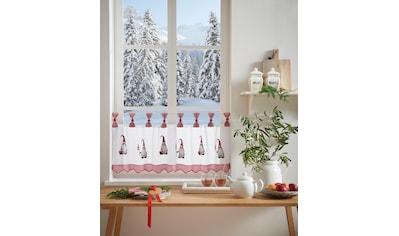 Scheibengardine, »WICHTEL«, my home, Schlaufen 1 Stück kaufen