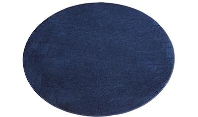 Living Line Teppich »Burbon«, rund, 10 mm Höhe, Velours, Wohnzimmer kaufen