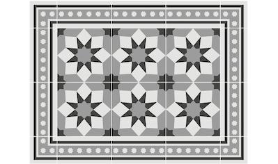 Contento Platzset »Matteo, Fliesen, grau«, für innen und außen geeignet, wasserabweisend kaufen