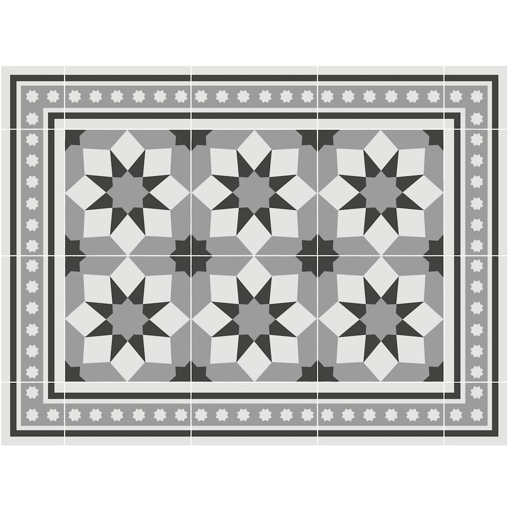 Contento Platzset »Matteo, Fliesen, grau«, (Set, 4 St.), für innen und außen geeignet, wasserabweisend