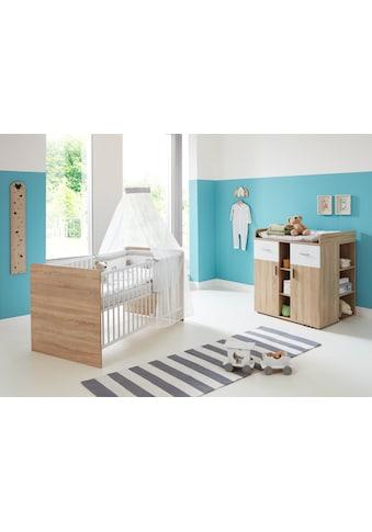 BMG Babymöbel-Set »Maxim«, (Set, 3 St.), Bett + Wickelkommode + Unterstellregal kaufen