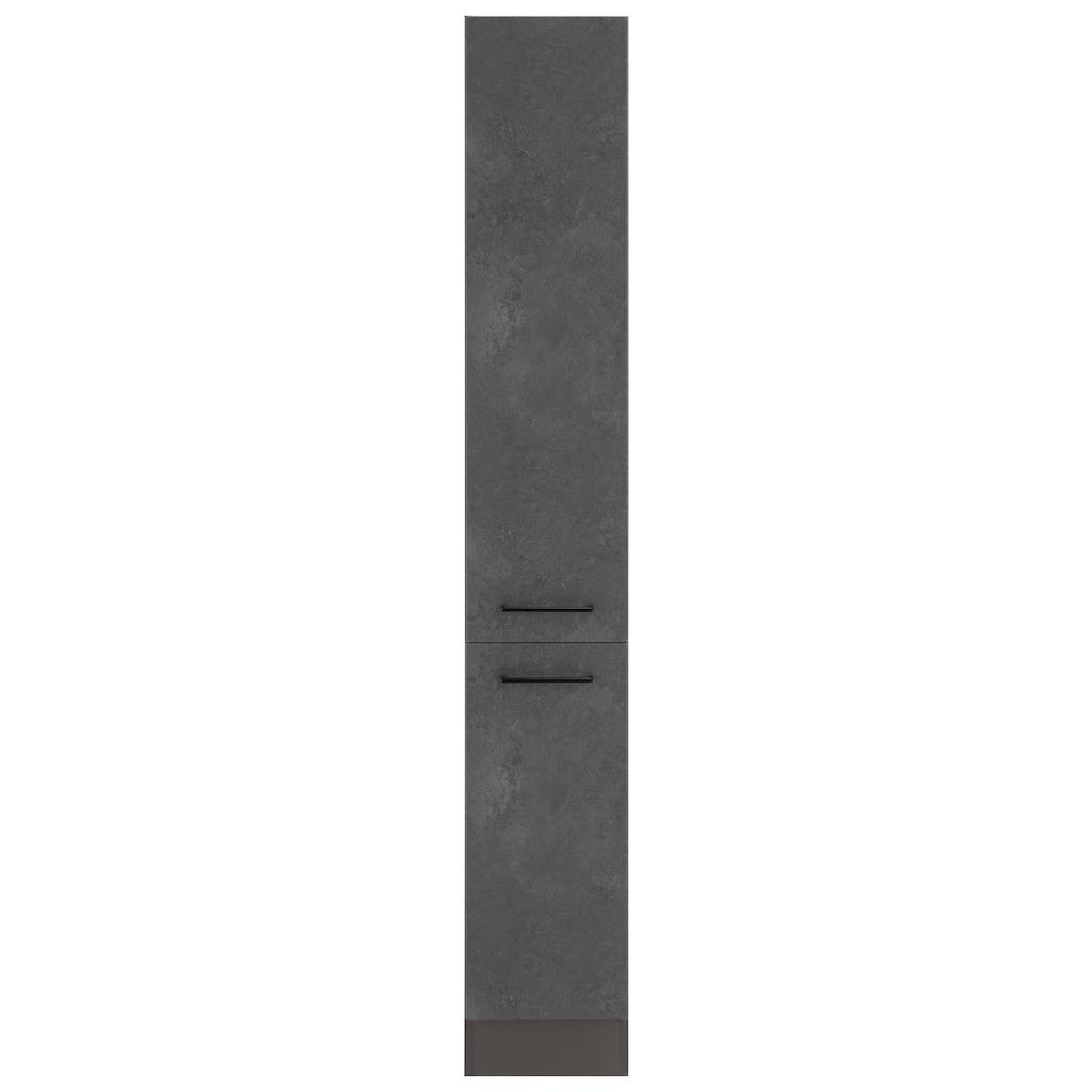 HELD MÖBEL Apothekerschrank »Tulsa«, 30 cm breit, 200 cm hoch, mit 2 Auszügen, schwarzer Metallgriff, hochwertige MDF Front