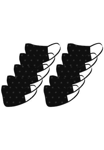 Packung: Community - Maske »TERRAX«, schwarz, 10 Stück, waschbar kaufen