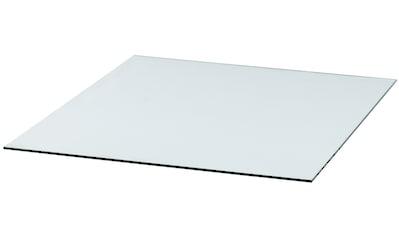 Heathus Bodenschutzplatte, Rechteck, 85 x 100 cm, transparent, zum Funkenschutz kaufen