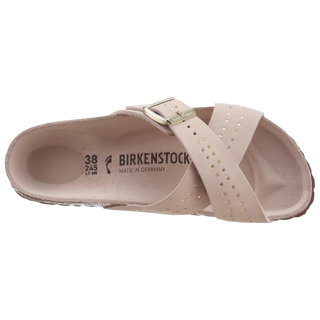 Birkenstock Pantolette »Siena«, mit Kreuzbandage, aus Leder