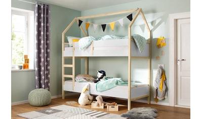 Lüttenhütt Etagenbett »Janne«, aus schönem massivem Kiefernholz, Etagenbett, in einer... kaufen