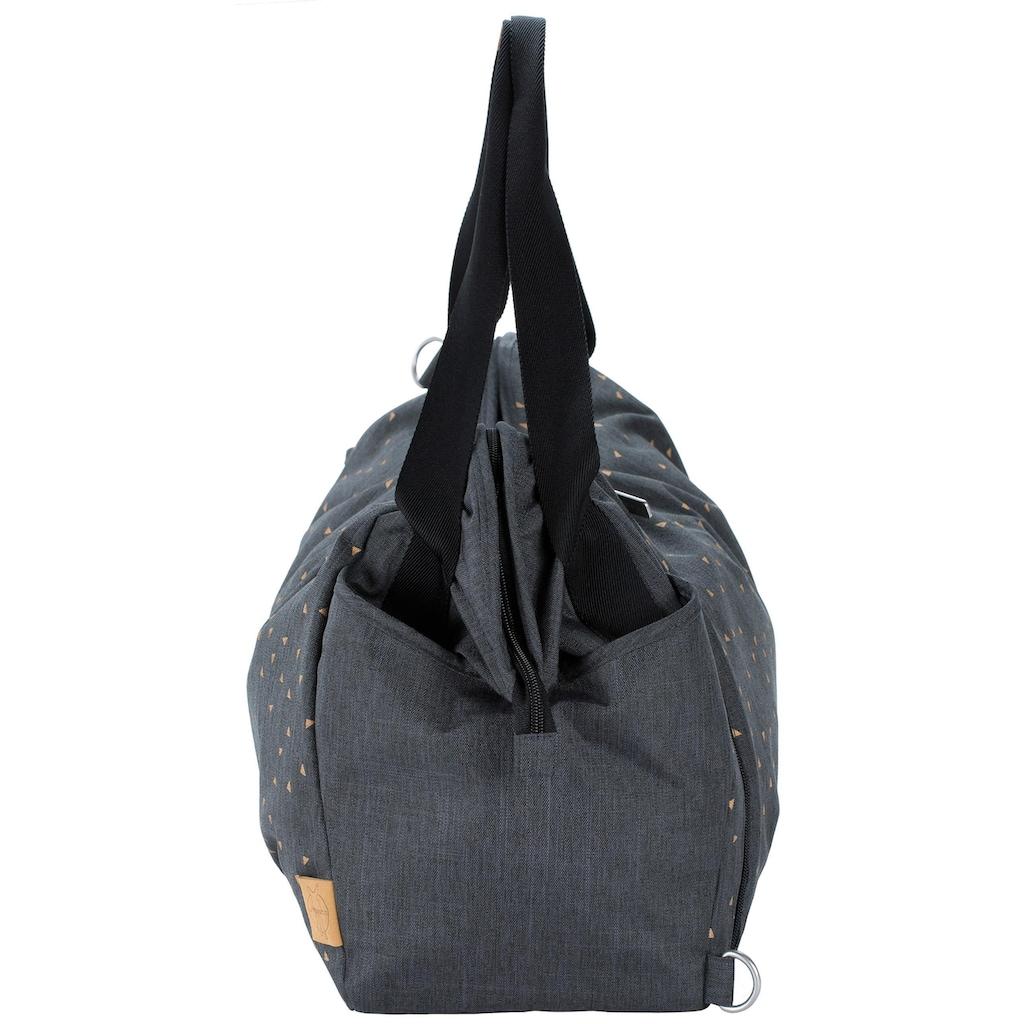 Lässig Wickeltasche »Casual Twin Bag Triangle, Dark Grey«, mit Rucksackfunktion und Wickelunterlage
