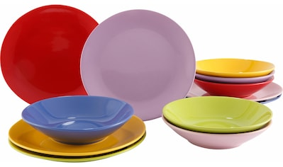 """Tafelservice """"Color - Mix"""" (12 - tlg.), Steingut kaufen"""