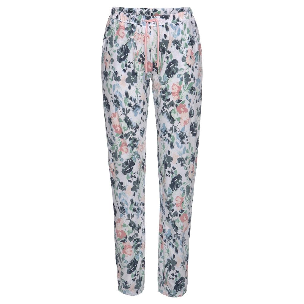 Vivance Dreams Pyjama, mit Blumenmuster in Aquarelloptik