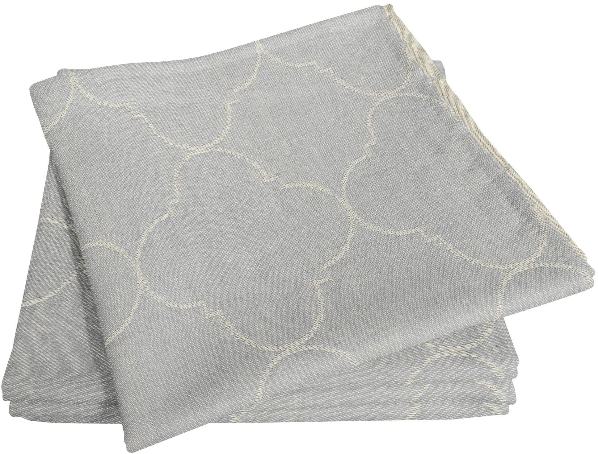 Adam Stoffserviette Indian Cortezada Light, (4 St.), nachhaltig, GOTS zertifiziert grau Stoffservietten Tischwäsche