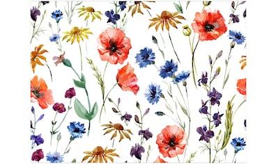 Contento Platzset »Matteo Blumen«, (Set, 4 St.), für den Innen- und Außenbereich,... kaufen