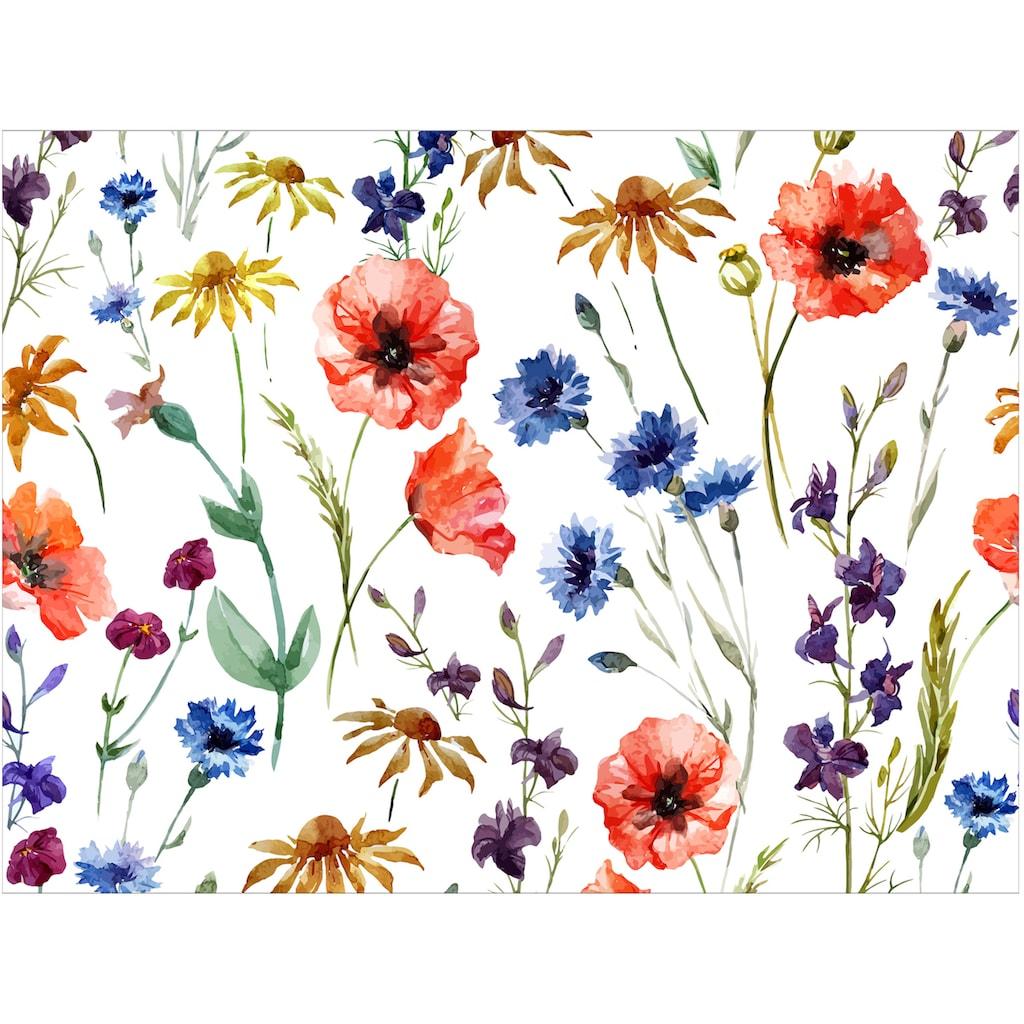 Contento Platzset »Matteo Blumen«, (Set, 4 St.), für den Innen- und Außenbereich, wasserabweisend, 30x40 cm