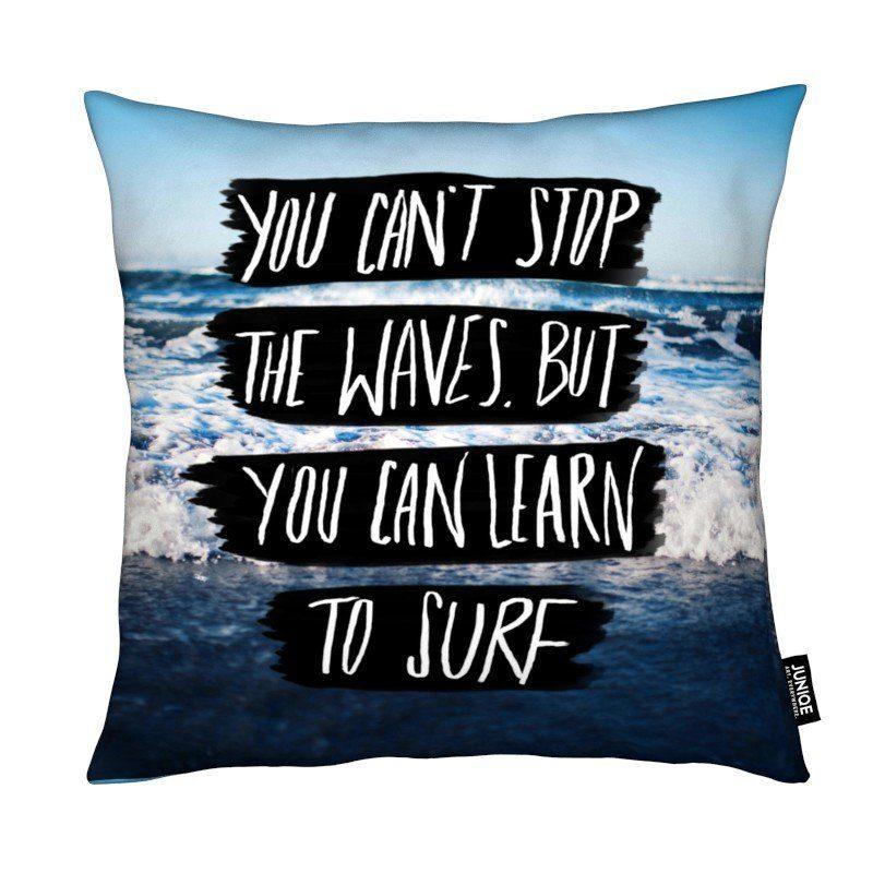Dekokissen Learn to Surf Juniqe