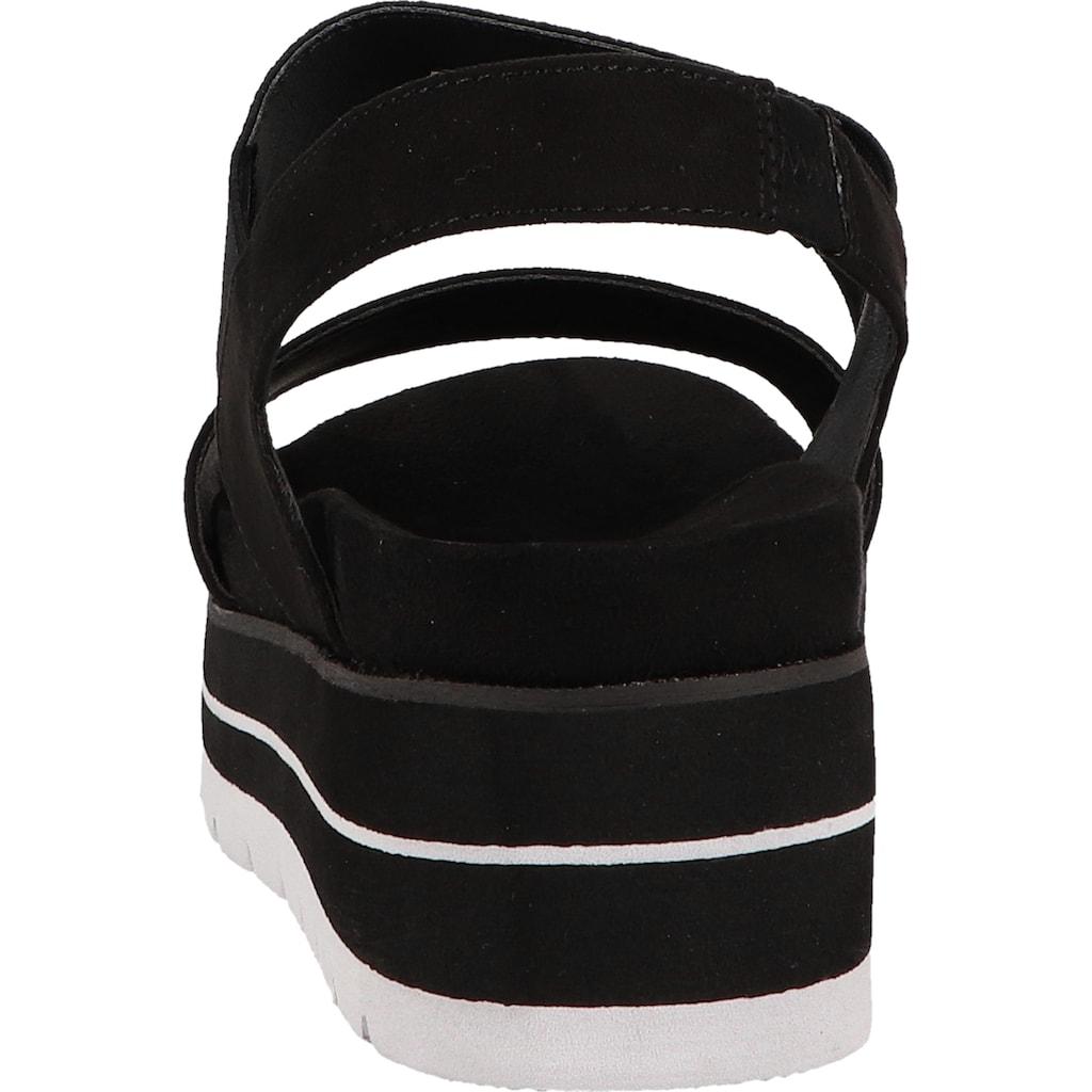 Bullboxer Keilsandalette »Lederimitat/Textil«