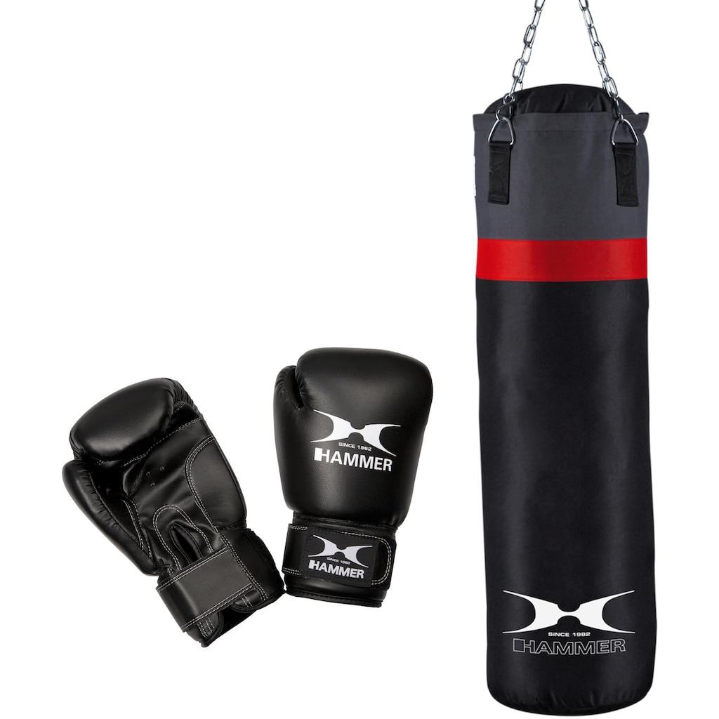 Hammer Boxsack »Cobra«, (Set, mit Boxhandschuhen)