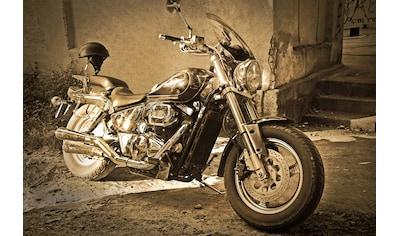 Papermoon Fototapete »Vintage Motorrad.«, Vliestapete, hochwertiger Digitaldruck kaufen