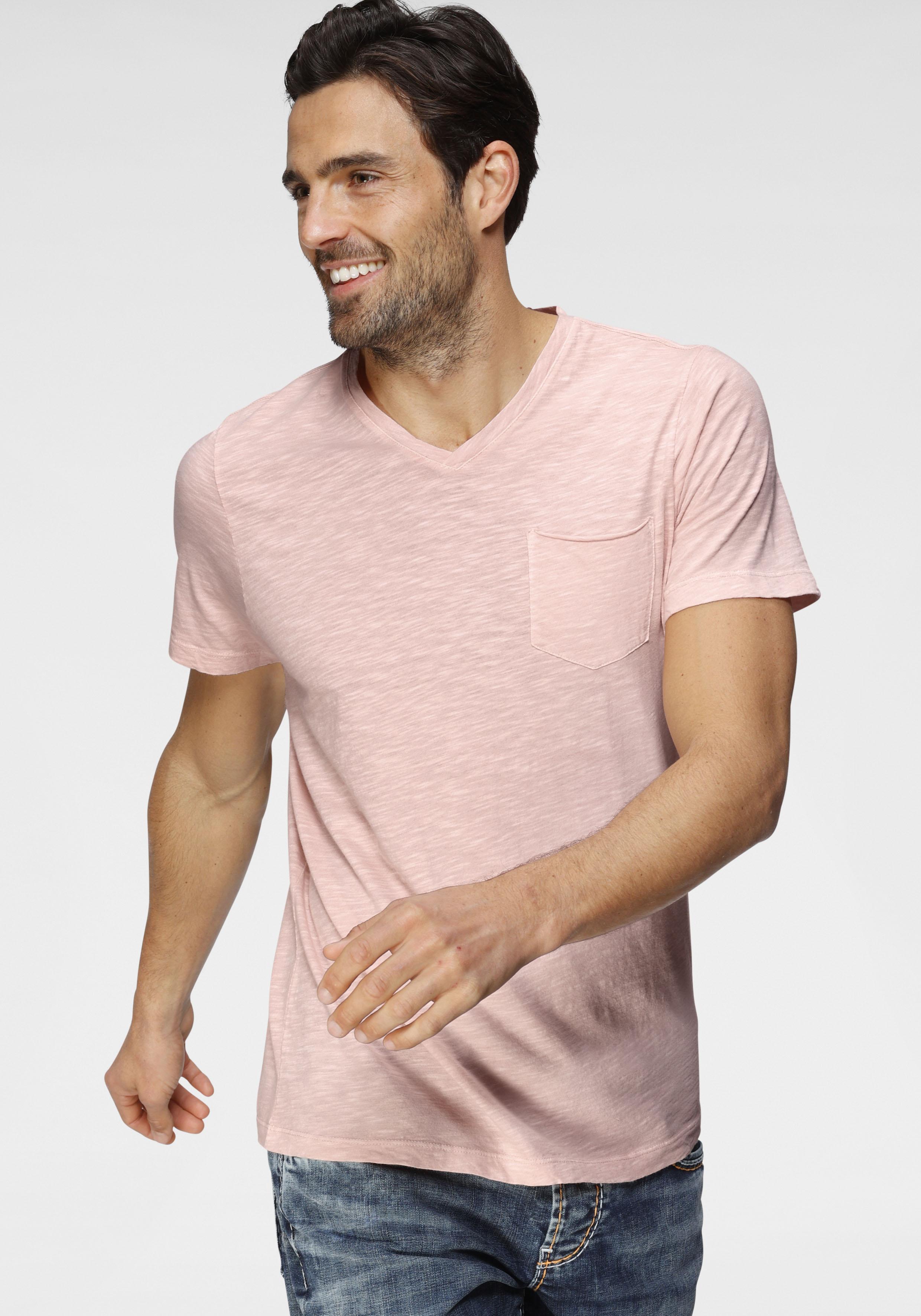 camp david -  T-Shirt, mit Brusttasche