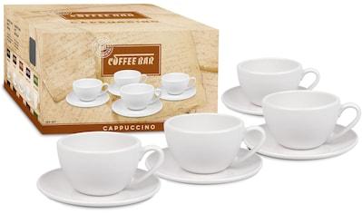Könitz Cappuccinotasse »Coffee Bar«, (Set, 8 tlg., 4 Tassen-4 Untertassen), (4 Tassen,... kaufen