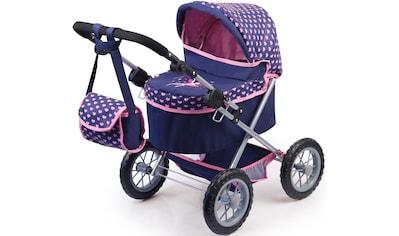 Bayer Puppenwagen »Trendy, dunkelblau«, mit Wickeltasche kaufen