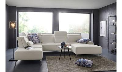sit&more Wohnlandschaft, 15 cm Fußhöhe, inklusive Sitztiefenverstellung und... kaufen