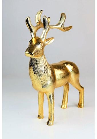 """ARTRA Dekofigur »Hirschfigur """"Rudolph""""«, in Gold, Tischdeko, Gastgeschenke kaufen"""