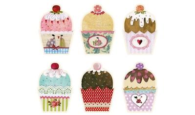 Wall-Art Wandtattoo »Zauberhafte Märchen Muffins bunt« kaufen