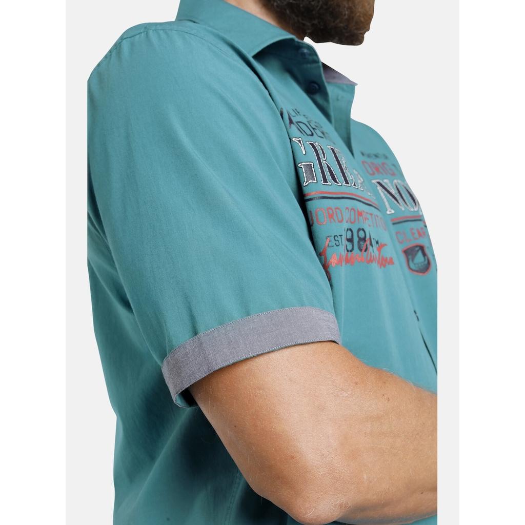 Jan Vanderstorm Kurzarmhemd »ARVE«, Baumwollhemd mit Kentkragen