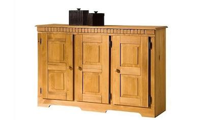 Home affaire Sideboard »Lisa«, aus schönem massivem Kiefernholz, wahlweise mit 3 oder 4 Türen erhältlich kaufen