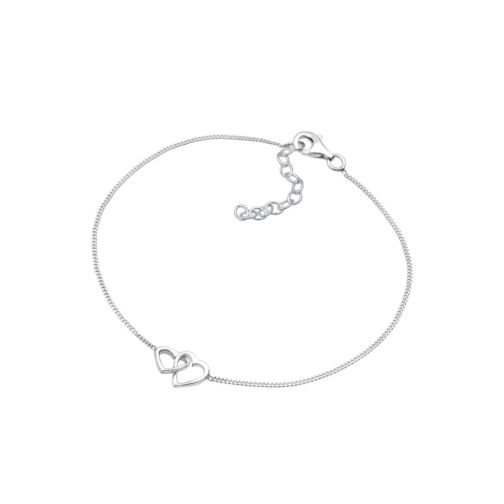 Elli Armband »Herzen Verschlungen Lovely 925 Silber«
