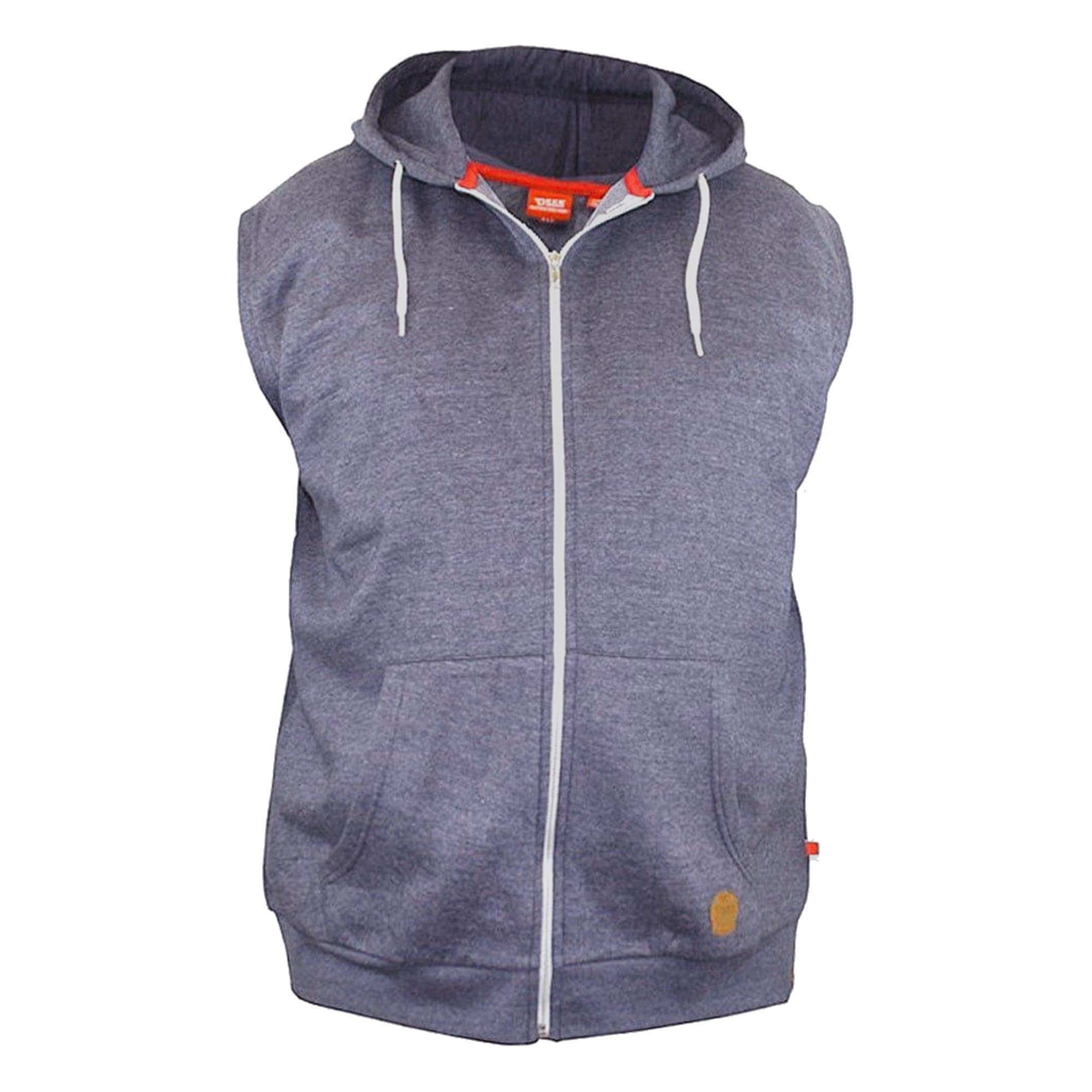 Duke Clothing Sweatweste Herren Kapuzenweste Blake Kingsize ärmellos | Bekleidung > Westen > Sweatwesten | Blau | Duke Clothing