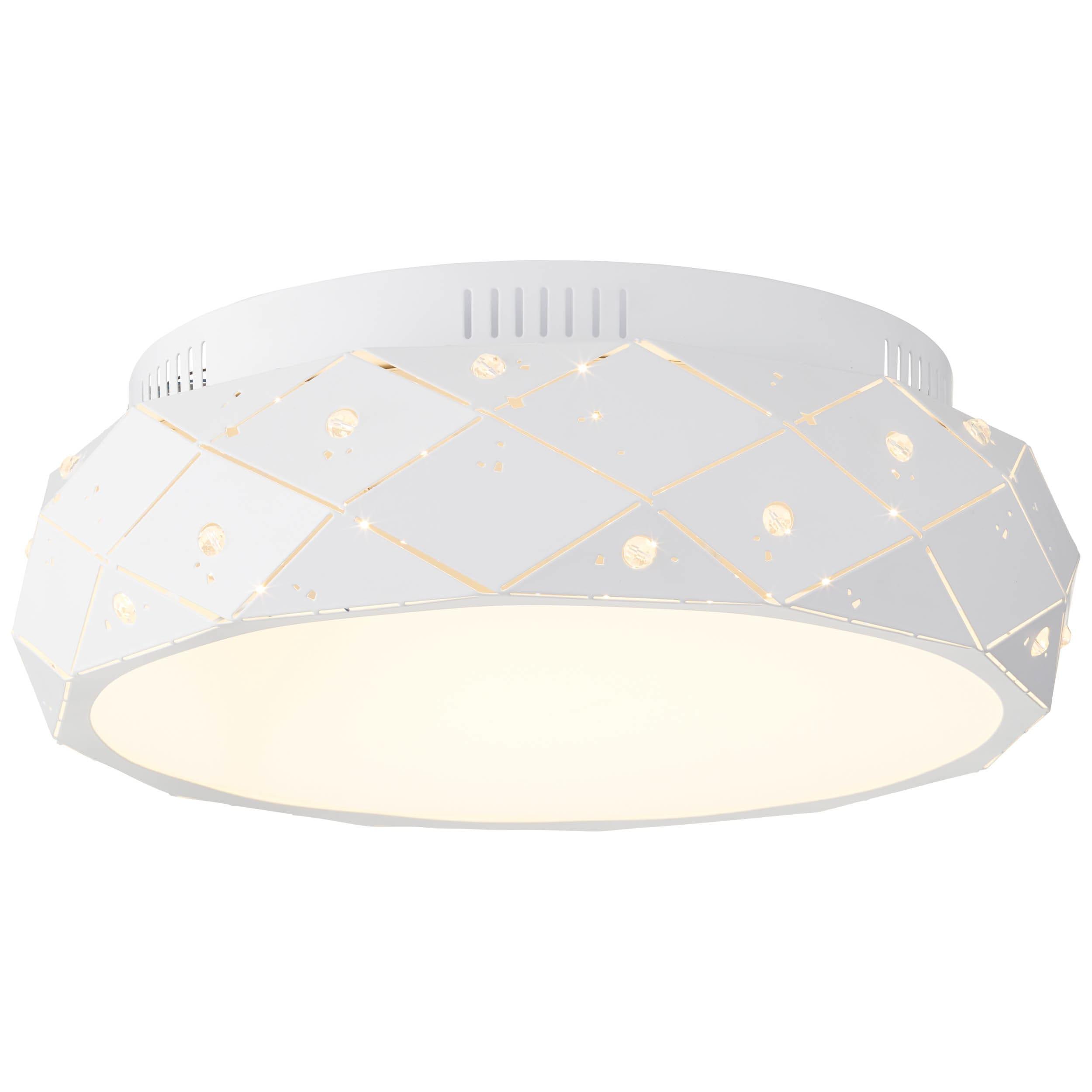 Brilliant Leuchten Fona LED Deckenleuchte 45cm weiß matt