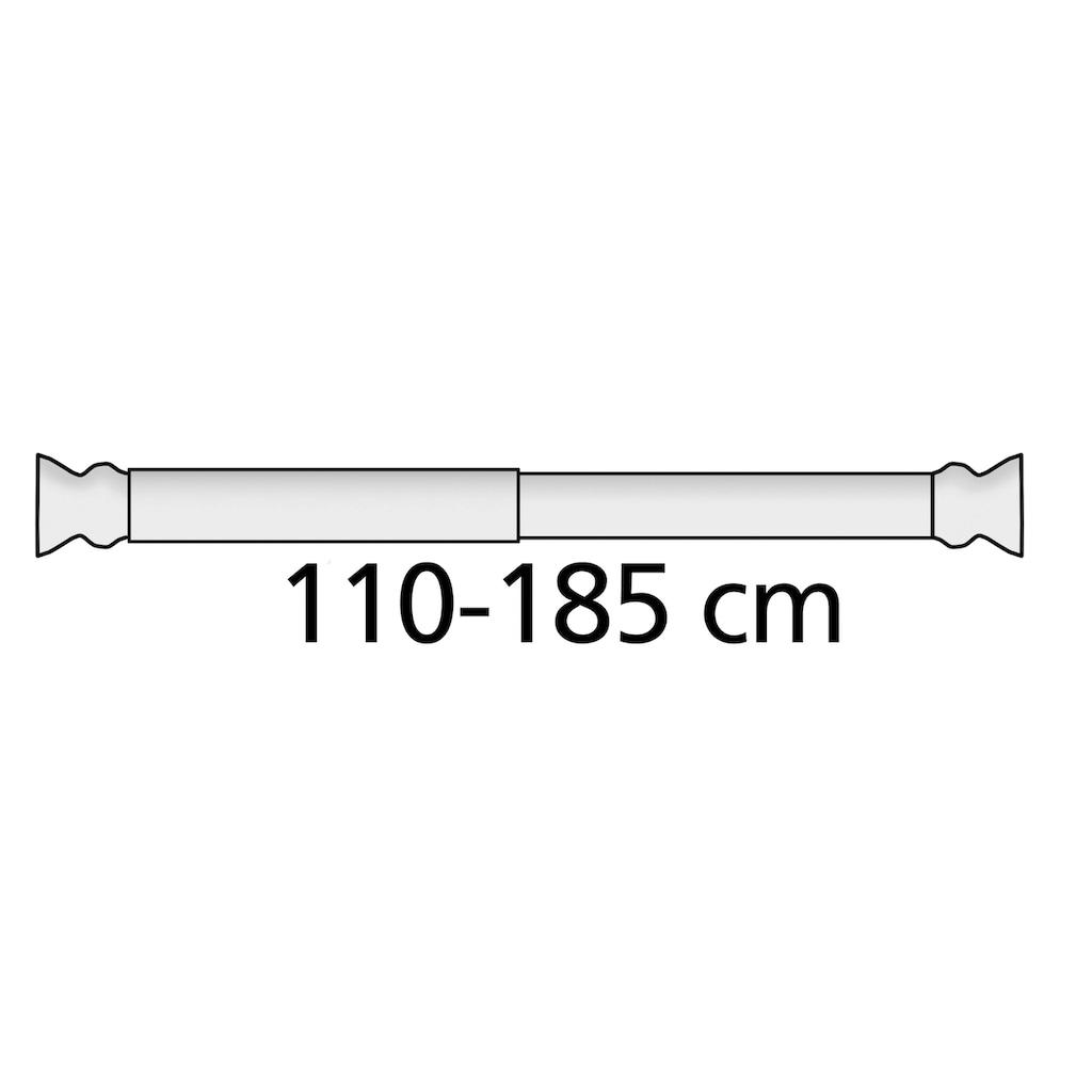 WENKO Klemmstange »Extra stark«, ausziehbar, Weiß, Breite 110 - 185 cm