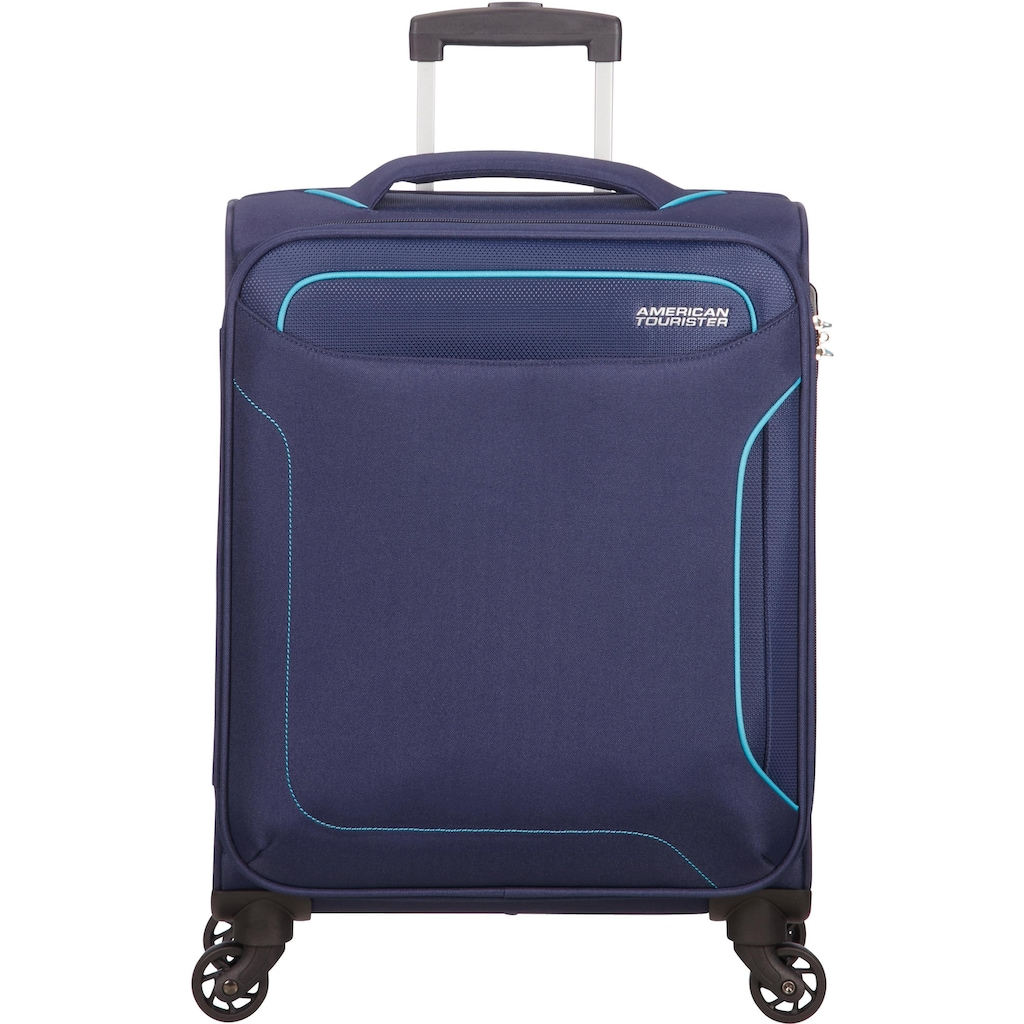 American Tourister® Weichgepäck-Trolley »Holiday Heat, 55 cm, navy«, 4 Rollen